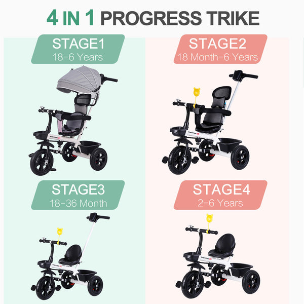 BABYCORE 4-In-1 Kids Tricycle and Baby Walker