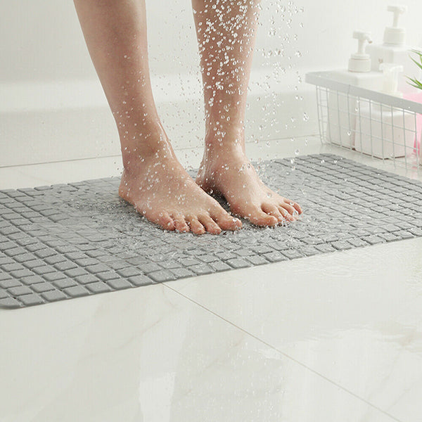 Bathroom Non-Slip Bath Shower PVC Mat Foot Massage Rubber Pad Suction Tub