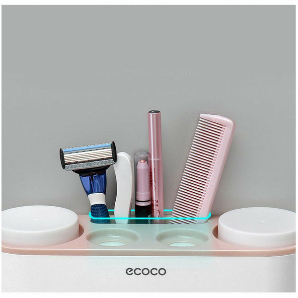 Handfree Toothbrush Holder Automatic Toothpaste Dispenser Set 5 Holder 4 Cup