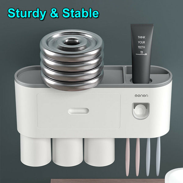 Multifunctional Toothbrush Holder Magnetic Cup Automatic Toothpaste Dispenser
