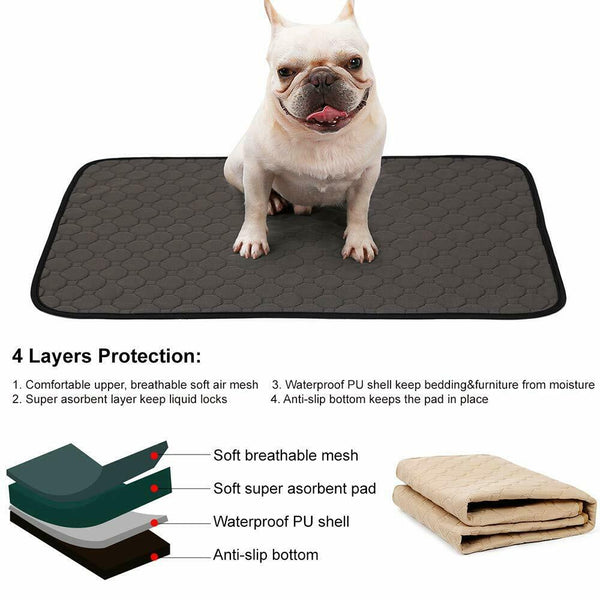 Washable Reusable Pet Dog Pee Pad Quick Dry Puppy Cat Training Wee Potty Mat