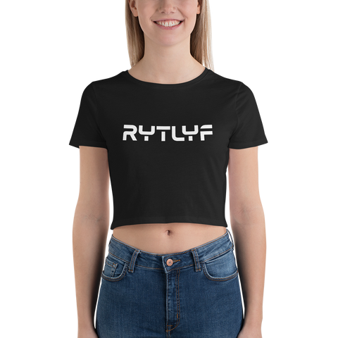 Women's Travel Logo Crop Tee