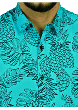 Load image into Gallery viewer, Goa Hawaiian Blue Fruit Pineapple Shirt (3)
