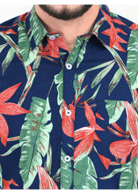 Load image into Gallery viewer, Tusok Floral Goa Hawaiian Blue Multicolor Shirt