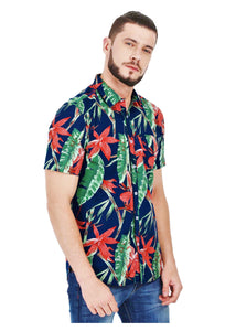 Tusok Floral Goa Hawaiian Blue Multicolor Shirt