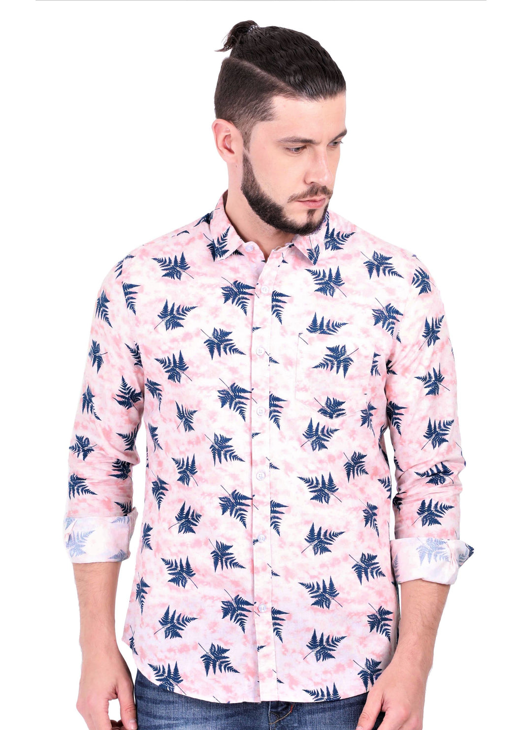 Goa Hawaiian Pink Full Sleeve Shirt (1)
