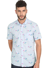 Load image into Gallery viewer, Goa Hawaiian Shirt Purple Sky Bird (1)