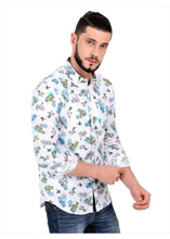 Load image into Gallery viewer, Goa Hawaiian Floral White Full Sleeve Shirt