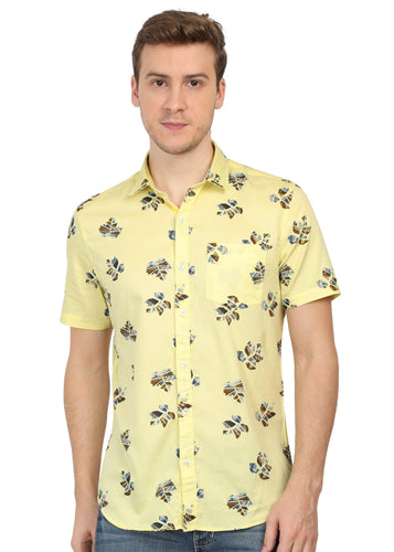 Tusok-autumnVacation-Printed Shirtimage-Yellow Satin (1)