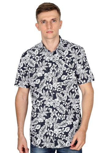 Tusok-black-magicVacation-Printed Shirtimage-Black Roop Floral (1)