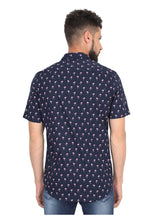 Load image into Gallery viewer, Tusok-blue-flamingoVacation-Printed Shirtimage-Flamingo (5)