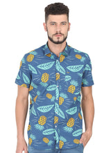 Load image into Gallery viewer, Tusok-blue-pineappleFeatured Shirt, Vacation-Printed Shirtimage-Blue Pineapple (1)