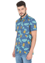 Load image into Gallery viewer, Tusok-blue-pineappleFeatured Shirt, Vacation-Printed Shirtimage-Blue Pineapple (2)