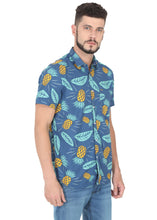 Load image into Gallery viewer, Tusok-blue-pineappleFeatured Shirt, Vacation-Printed Shirtimage-Blue Pineapple (3)
