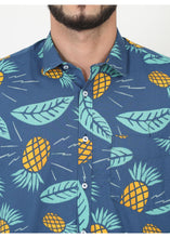 Load image into Gallery viewer, Tusok-blue-pineappleFeatured Shirt, Vacation-Printed Shirtimage-Blue Pineapple (5)