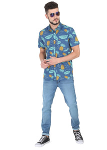 Tusok-blue-pineappleFeatured Shirt, Vacation-Printed Shirtimage-Blue Pineapple (6)