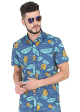 Load image into Gallery viewer, Tusok-blue-pineappleFeatured Shirt, Vacation-Printed Shirtimage-Blue Pineapple (7)