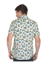 Load image into Gallery viewer, Tusok-bouquetVacation-Printed Shirtimage-Teal Bouquet (4)