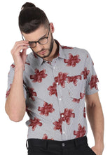 Load image into Gallery viewer, Tusok-brown-bloomFeatured Shirt, Vacation-Printed Shirtimage-Brown Bloom (1)