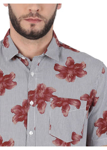 Tusok-brown-bloomFeatured Shirt, Vacation-Printed Shirtimage-Brown Bloom (5)