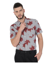 Load image into Gallery viewer, Tusok-brown-bloomFeatured Shirt, Vacation-Printed Shirtimage-Brown Bloom (7)