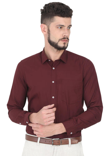 Tusok-burgundyCheckered Shirtimage-Maroon Plain (1)