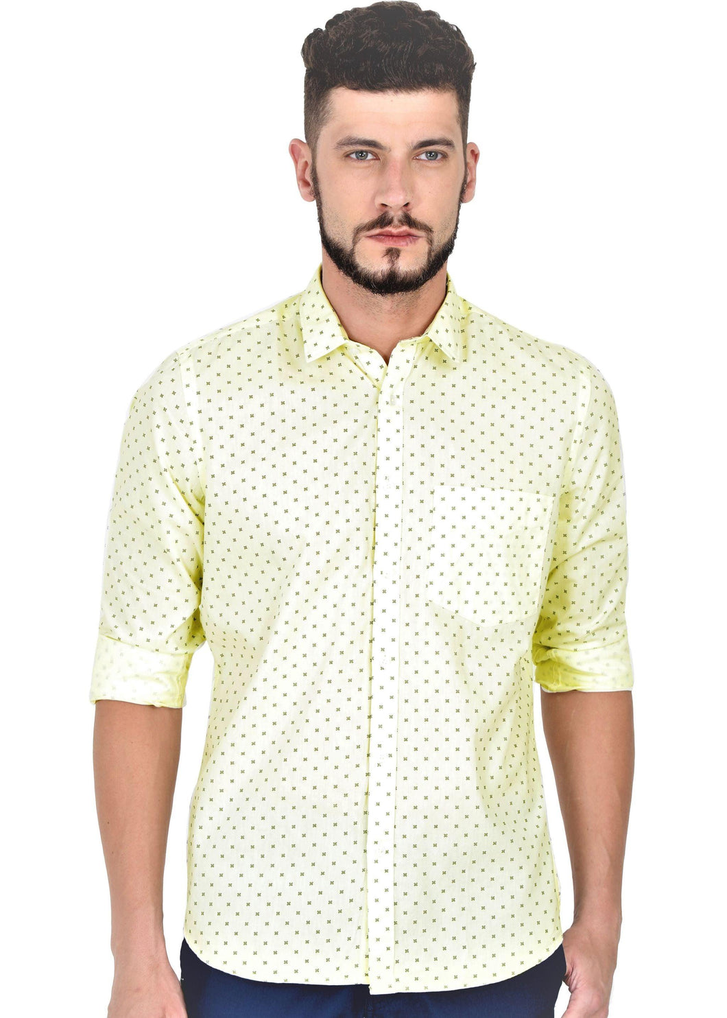 Tusok-cornVacation-Printed Shirtimage-Yellow Polka (1)