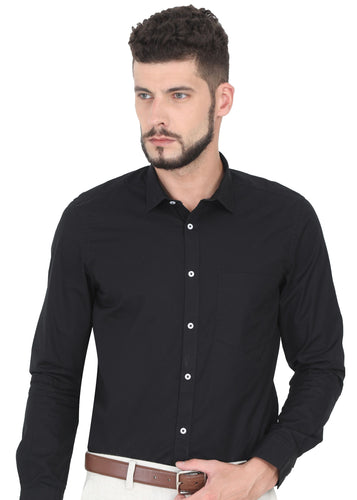 Tusok-dark-blackPlain-Solid Shirtimage-Black Plain (1)