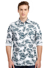 Load image into Gallery viewer, Tusok-dukeVacation-Printed Shirtimage-Whie Black Palm Full (1)