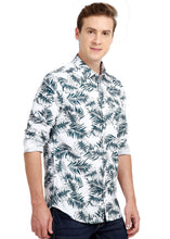 Load image into Gallery viewer, Tusok-dukeVacation-Printed Shirtimage-Whie Black Palm Full (4)