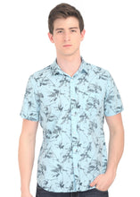 Load image into Gallery viewer, Tusok-fern-blueVacation-Printed Shirtimage-Prakash Blue (1)
