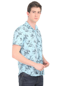 Tusok-fern-blueVacation-Printed Shirtimage-Prakash Blue (2)