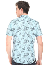Load image into Gallery viewer, Tusok-fern-blueVacation-Printed Shirtimage-Prakash Blue (4)
