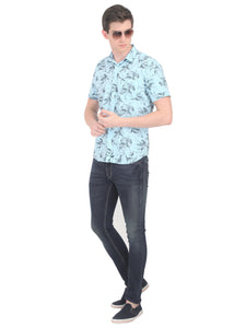 Tusok-fern-blueVacation-Printed Shirtimage-Prakash Blue (5)