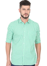 Load image into Gallery viewer, Tusok-green-chessCheckered Shirtimage-Green White Check (1)