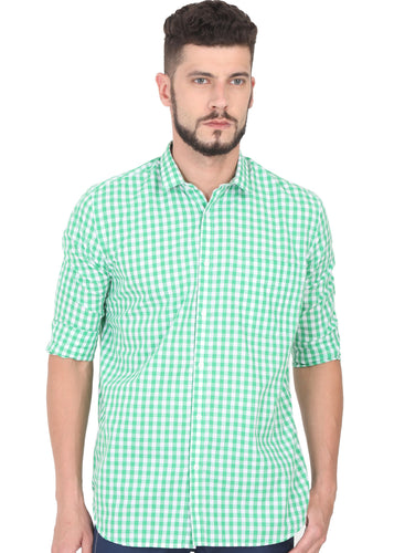 Tusok-green-chessCheckered Shirtimage-Green White Check (1)