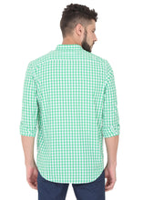 Load image into Gallery viewer, Tusok-green-chessCheckered Shirtimage-Green White Check (5)