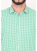 Load image into Gallery viewer, Tusok-green-chessCheckered Shirtimage-Green White Check (6)
