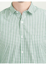 Load image into Gallery viewer, Tusok-green-glenCheckered Shirtimage-Off white Double Green Check (2)