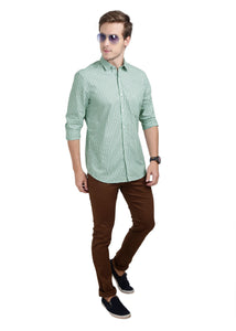 Tusok-green-glenCheckered Shirtimage-Off white Double Green Check (5)