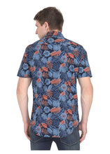 Load image into Gallery viewer, Tusok-grey-tropicalVacation-Printed Shirtimage-Black Grey (4)