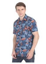 Load image into Gallery viewer, Tusok-grey-tropicalVacation-Printed Shirtimage-Black Grey (5)