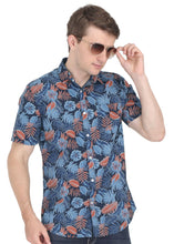 Load image into Gallery viewer, Tusok-grey-tropicalVacation-Printed Shirtimage-Black Grey (7)