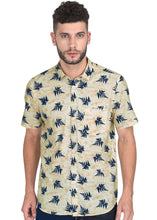 Load image into Gallery viewer, Tusok-leafy-beige-blueVacation-Printed Shirtimage-Beige Leaf Aloha (1)