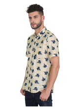 Load image into Gallery viewer, Tusok-leafy-beige-blueVacation-Printed Shirtimage-Beige Leaf Aloha (2)