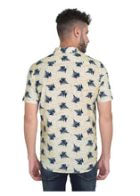 Load image into Gallery viewer, Tusok-leafy-beige-blueVacation-Printed Shirtimage-Beige Leaf Aloha (4)