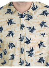 Load image into Gallery viewer, Tusok-leafy-beige-blueVacation-Printed Shirtimage-Beige Leaf Aloha (5)