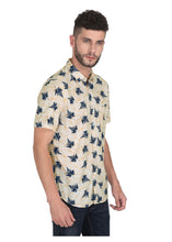 Load image into Gallery viewer, Tusok-leafy-beige-blueVacation-Printed Shirtimage-Beige Leaf Aloha (6)