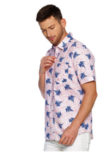 Load image into Gallery viewer, Tusok-leafy-pink-blueVacation-Printed Shirtimage-Pink Aloha (2)