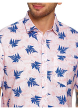 Load image into Gallery viewer, Tusok-leafy-pink-blueVacation-Printed Shirtimage-Pink Aloha (5)